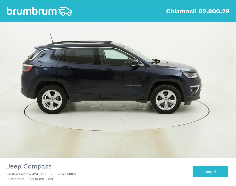 Jeep Compass Limited Preview 4WD Aut. usata del 2017 con 50.731 km | brumbrum