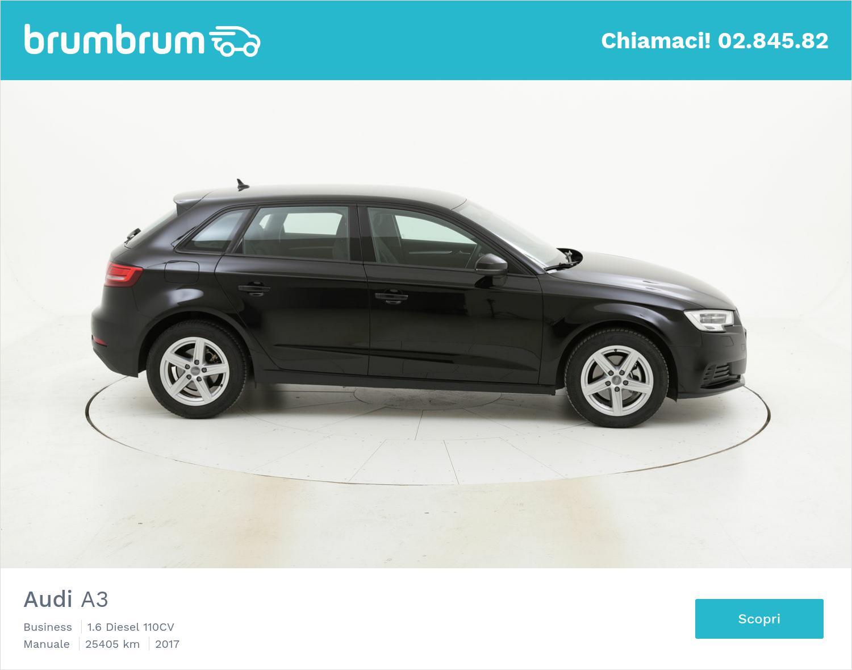 Audi A3 usata del 2017 con 25.554 km | brumbrum