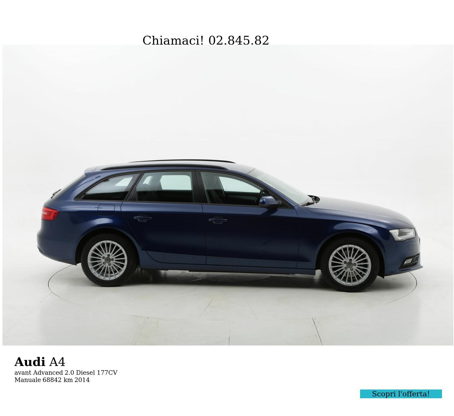 Audi A4 usata del 2014 con 69.362 km   brumbrum