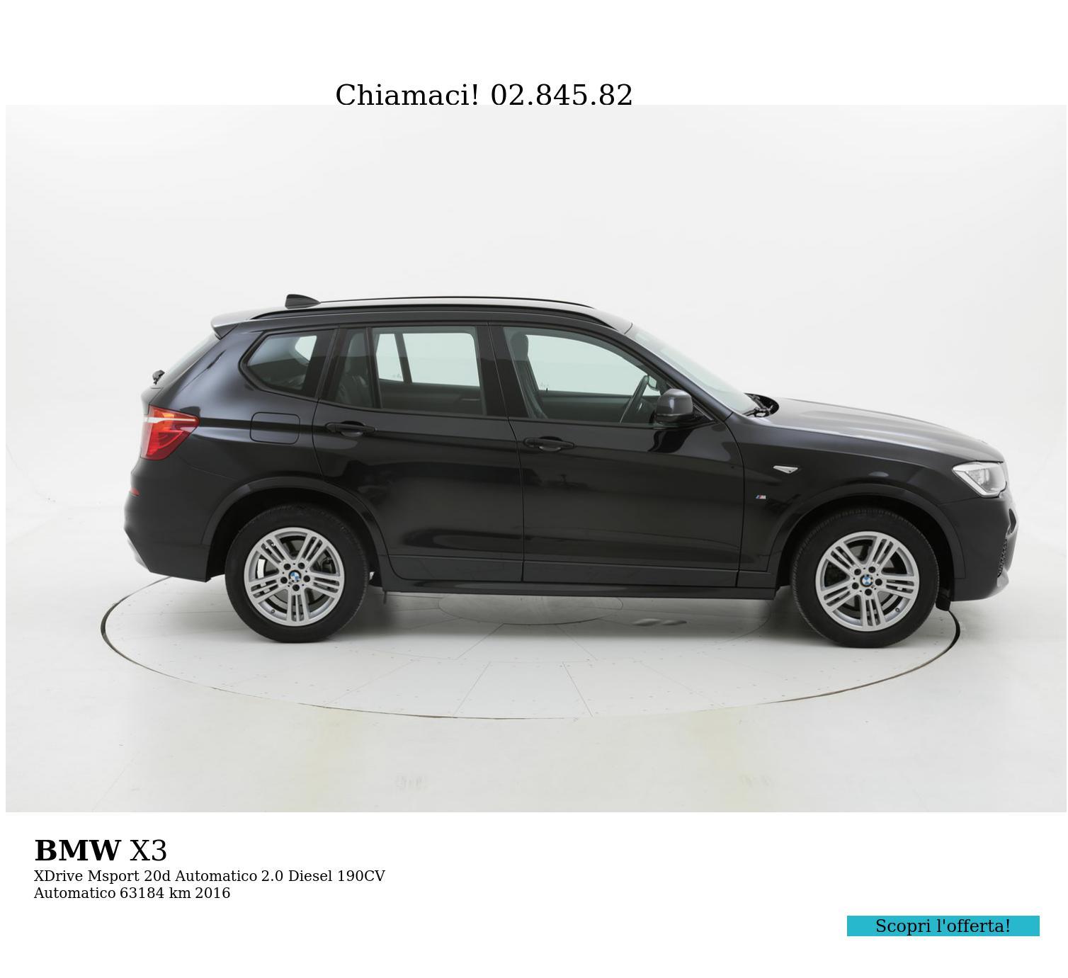 BMW X3 usata del 2016 con 63.685 km | brumbrum
