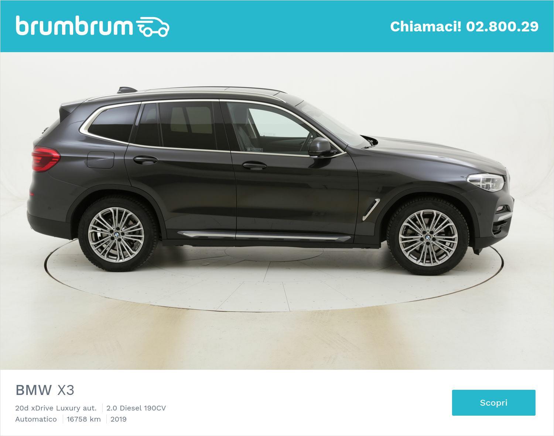 BMW X3 20d xDrive Luxury aut. usata del 2019 con 17.124 km | brumbrum