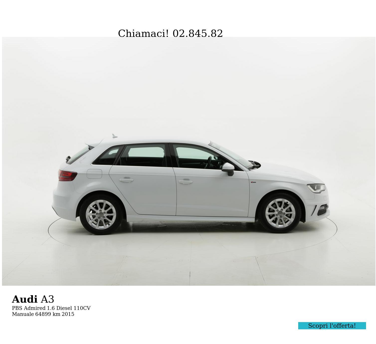 Audi A3 usata del 2015 con 64.972 km   brumbrum