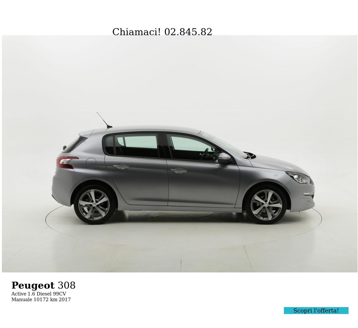 Peugeot 308 usata del 2017 con 10.412 km | brumbrum