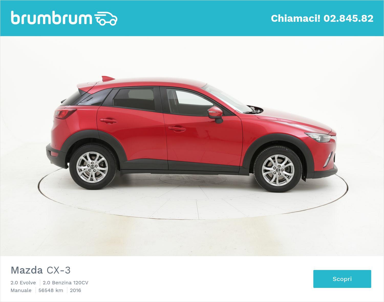 Mazda CX-3 usata del 2016 con 56.698 km | brumbrum