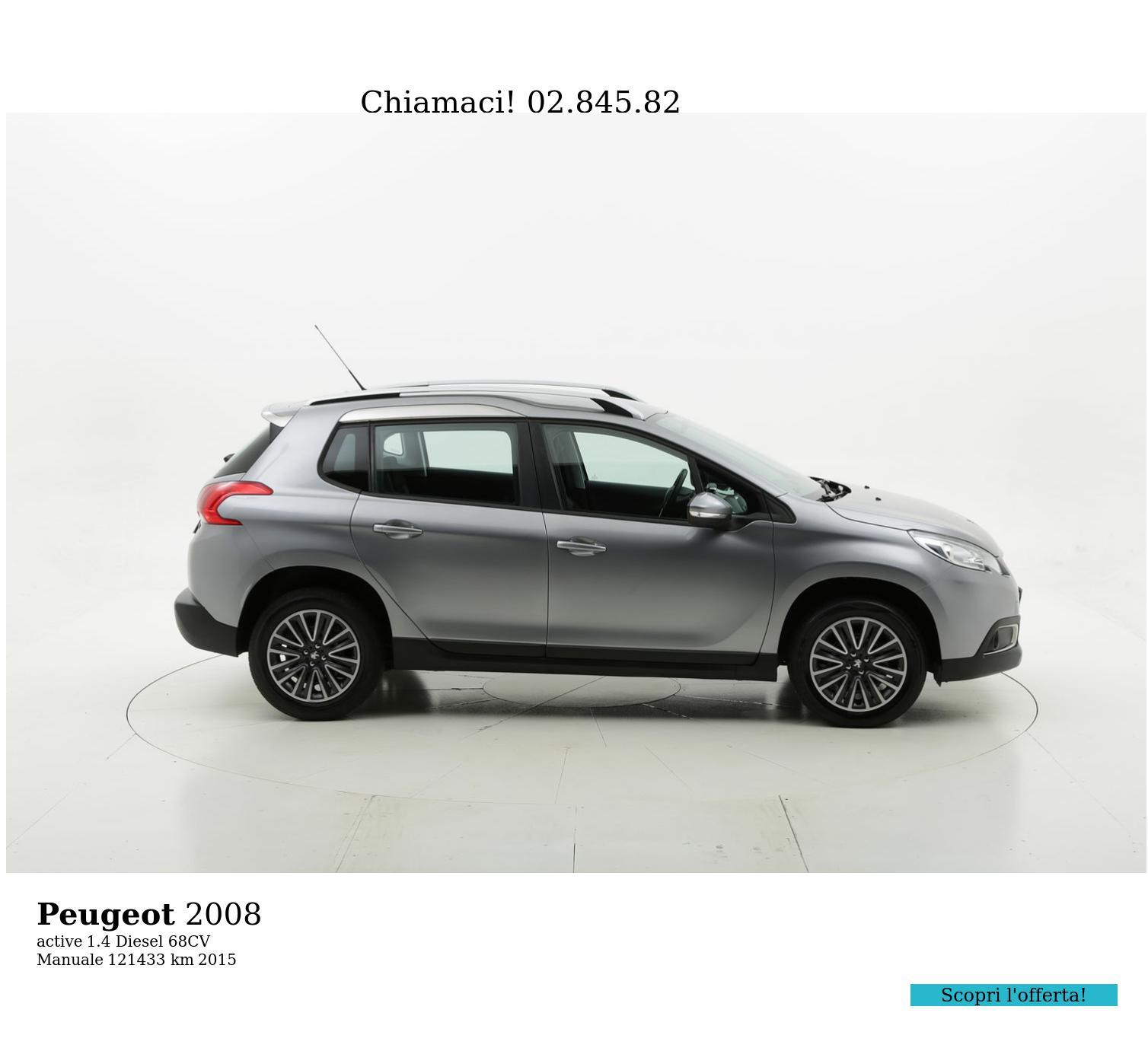 Peugeot 2008 usata del 2015 con 121.594 km | brumbrum