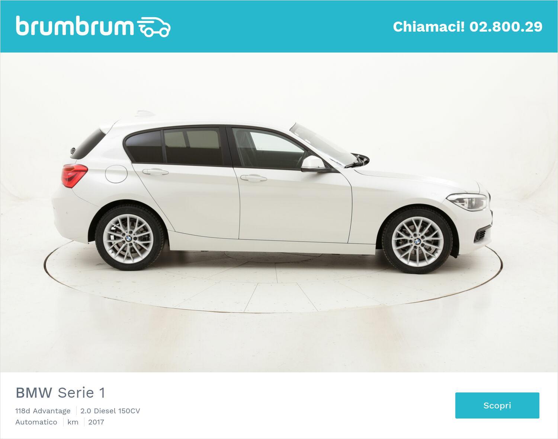 BMW Serie 1 118d Advantage usata del 2017 con 118.815 km   brumbrum