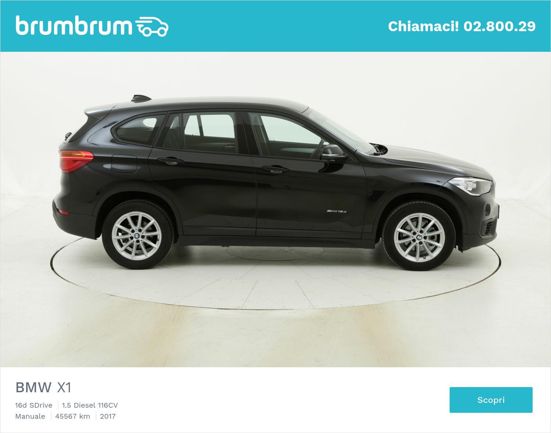 BMW X1 usata del 2017 con 45.595 km   brumbrum