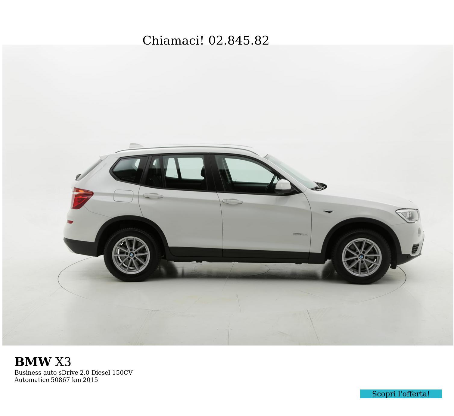 BMW X3 usata del 2015 con 51.037 km | brumbrum