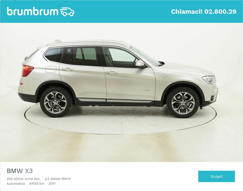 BMW X3 20d xDrive xLine Aut. usata del 2017 con 94.387 km | brumbrum