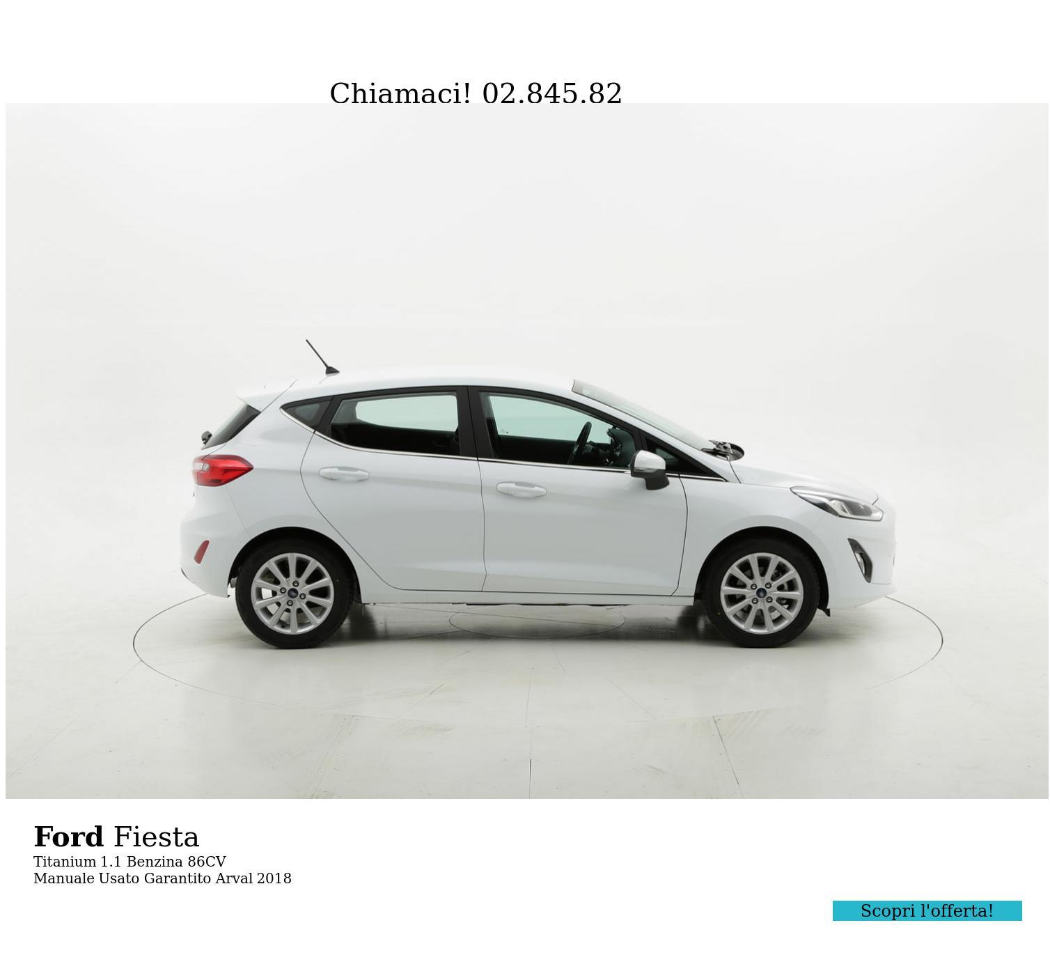 Ford Fiesta Titanium km 0 benzina bianca | brumbrum