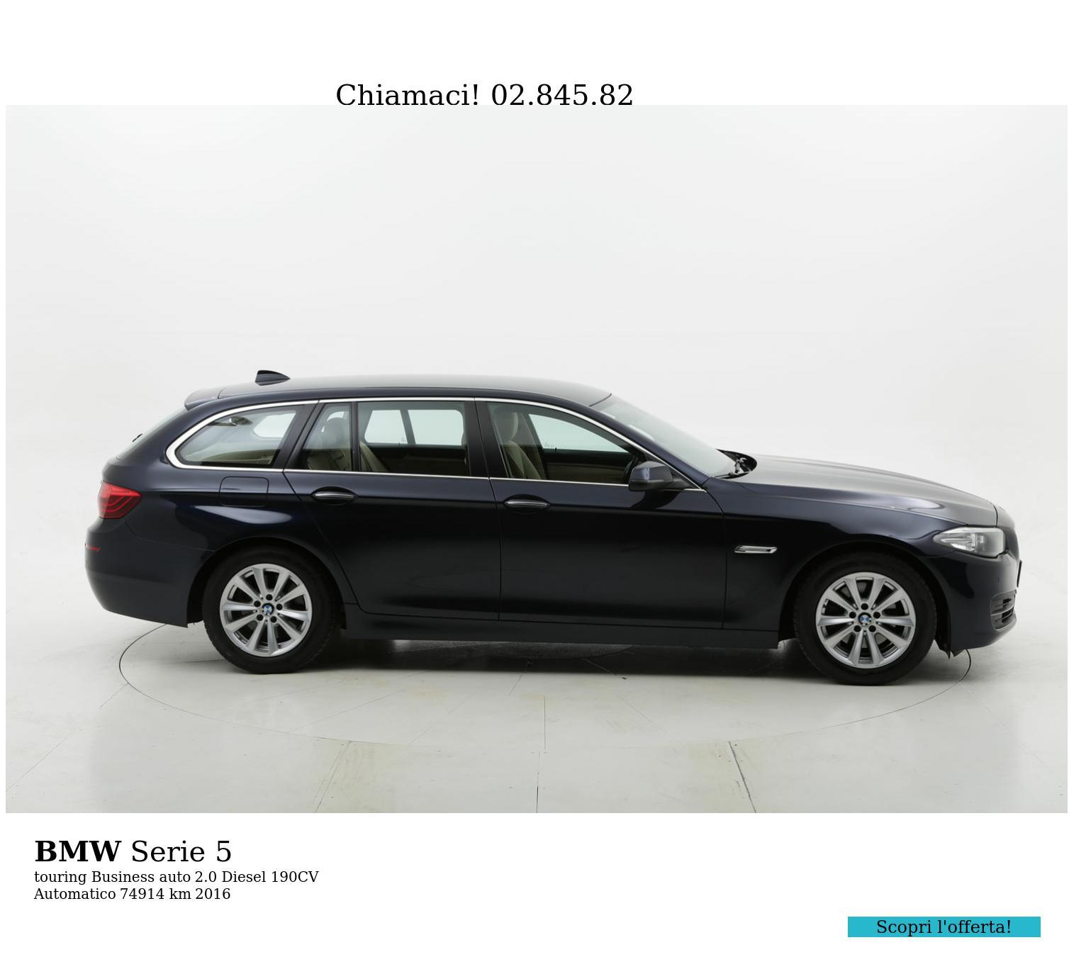 BMW Serie 5 usata del 2016 con 75.663 km | brumbrum