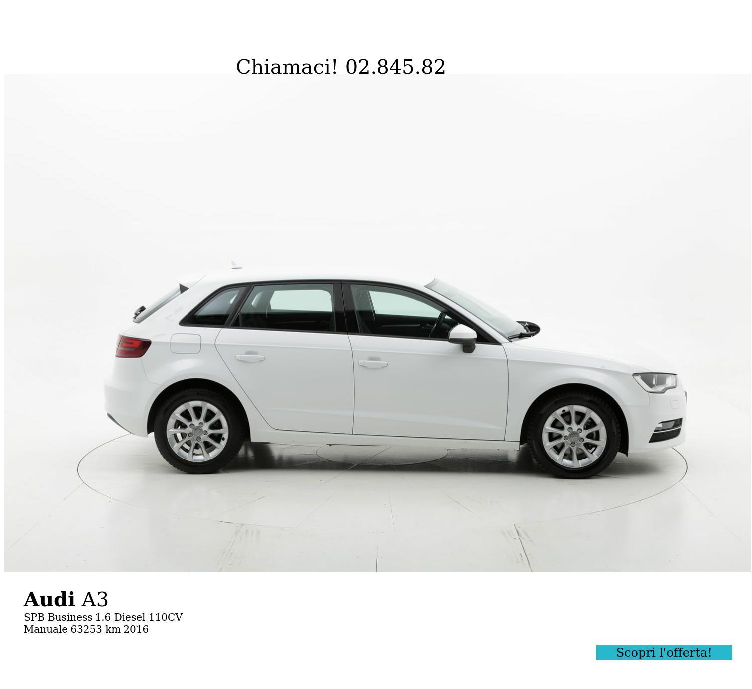 Audi A3 usata del 2016 con 63.544 km   brumbrum