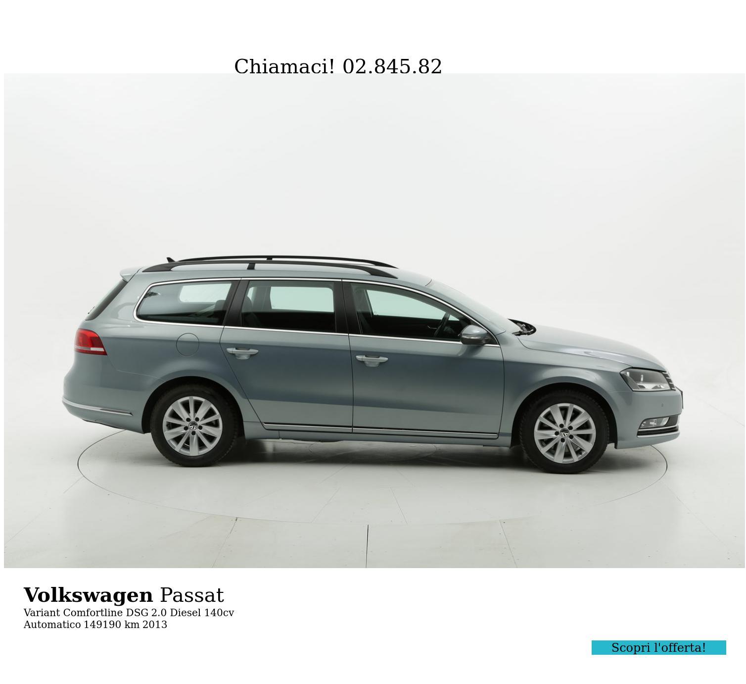 Volkswagen Passat usata del 2013 con 149.282 km | brumbrum
