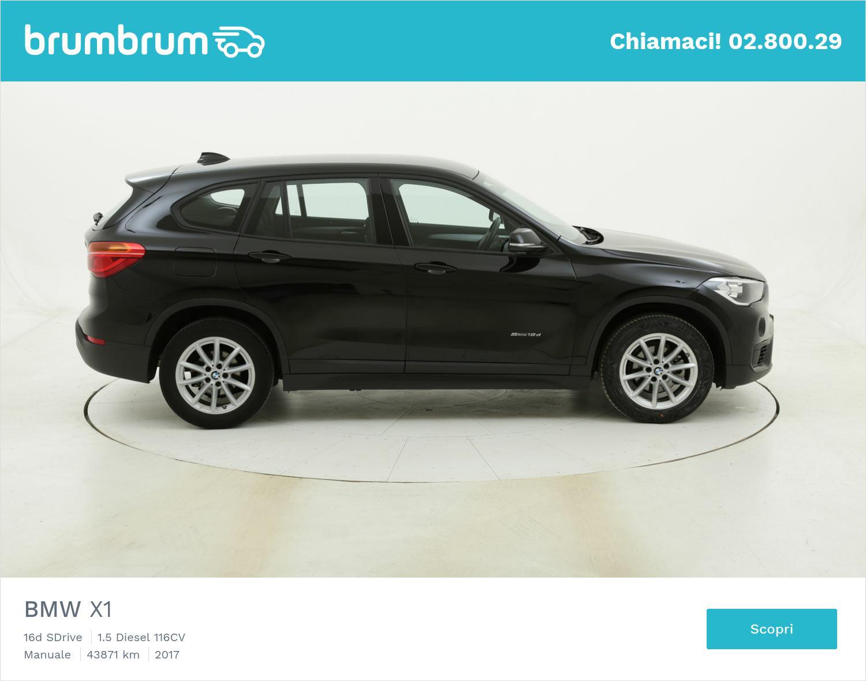 BMW X1 16d SDrive usata del 2017 con 43.899 km   brumbrum