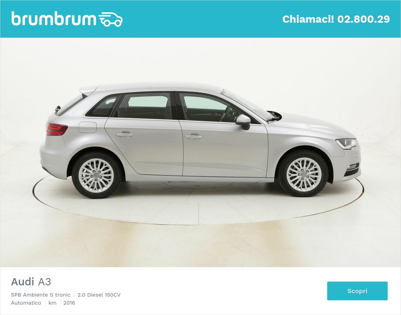 Audi A3 SPB Ambiente S tronic usata del 2016 con 50.929 km   brumbrum