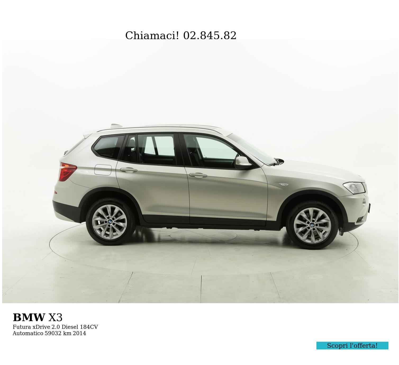 BMW X3 usata del 2014 con 59.195 km | brumbrum