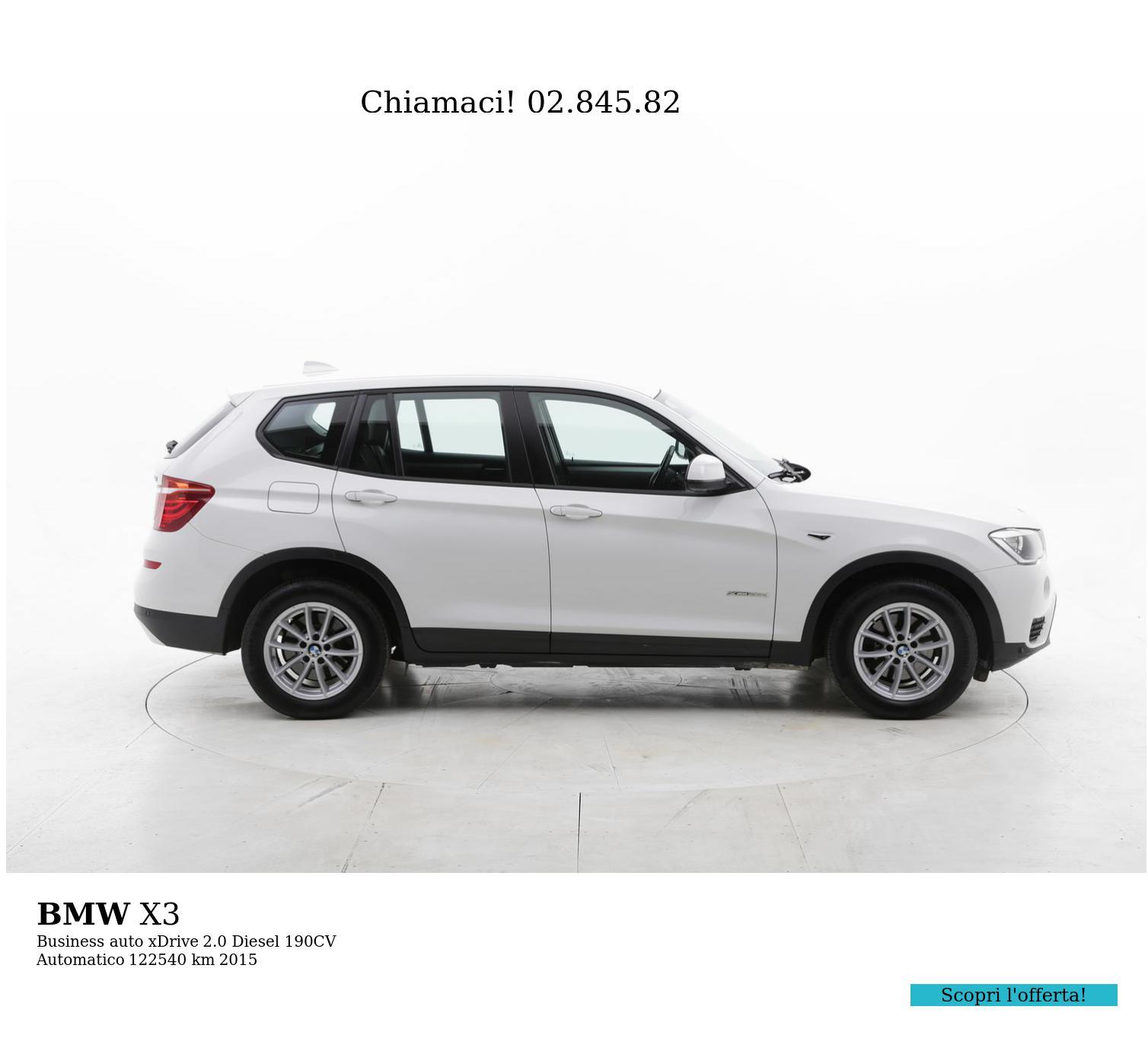 BMW X3 usata del 2015 con 122.836 km | brumbrum