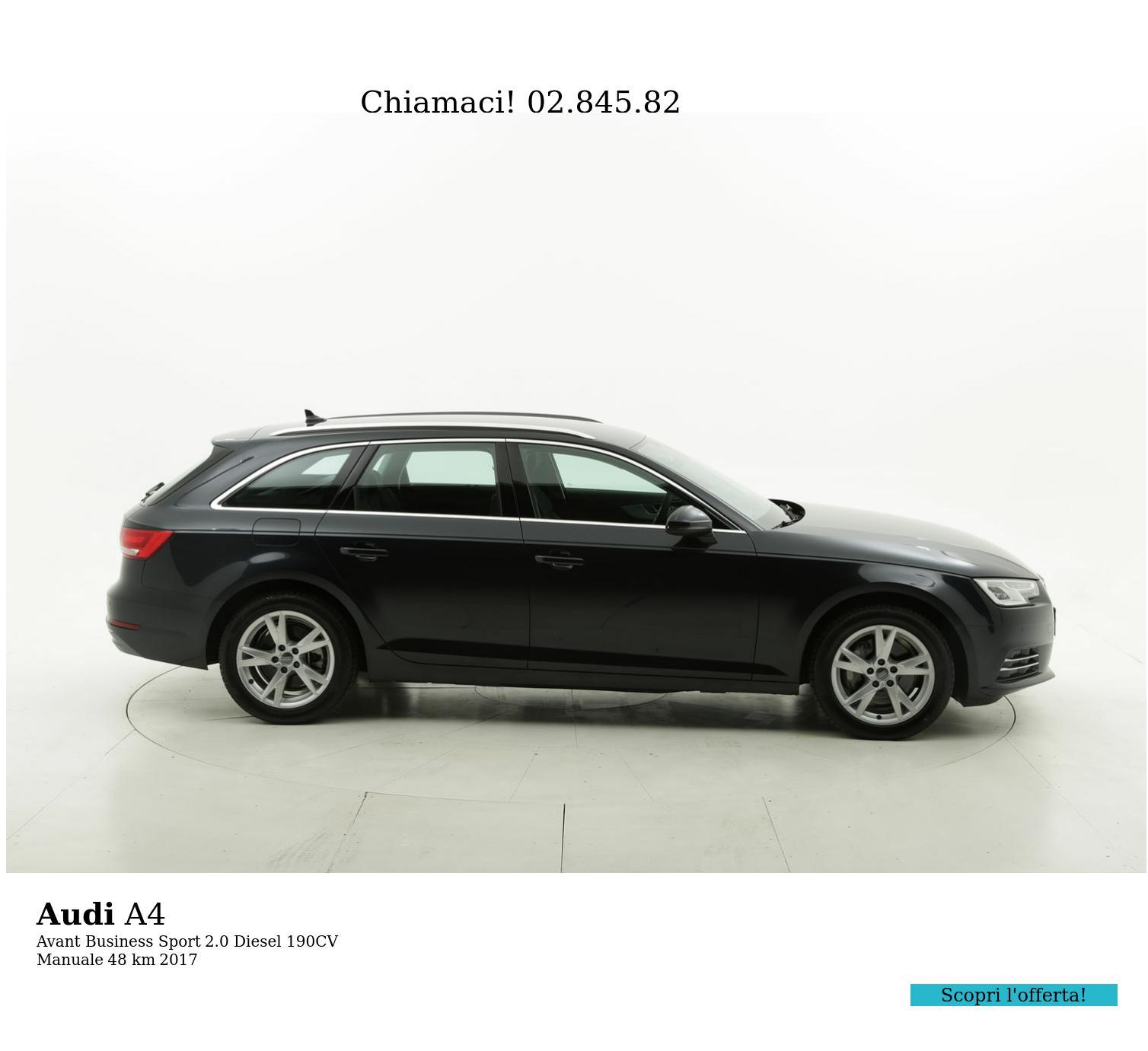 Audi A4 usata del 2017 con 55 km | brumbrum