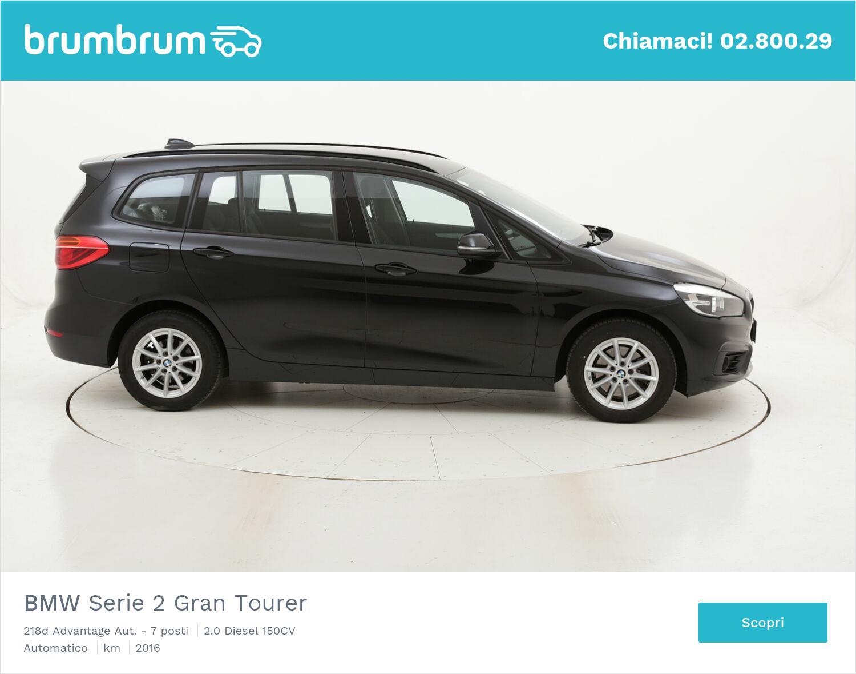 BMW Serie 2 Gran Tourer 218d Advantage Aut. - 7 posti usata del 2016 con 131.316 km   brumbrum