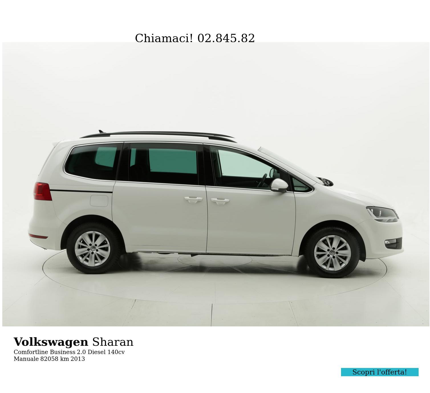 Volkswagen Sharan usata del 2013 con 82.779 km | brumbrum
