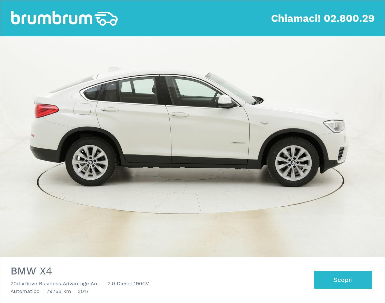 BMW X4 20d xDrive Business Advantage Aut. usata del 2017 con 79.869 km   brumbrum