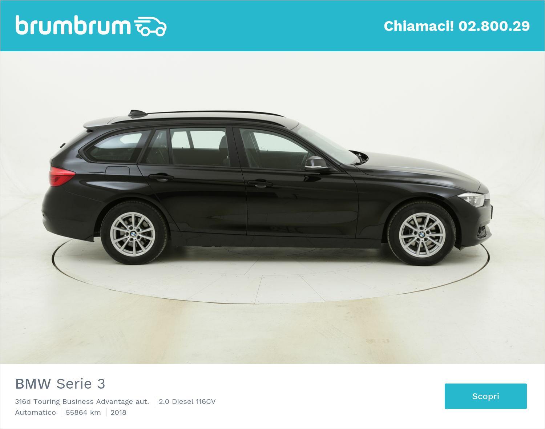 BMW Serie 3 316d Touring Business Advantage aut. usata del 2018 con 56.085 km | brumbrum