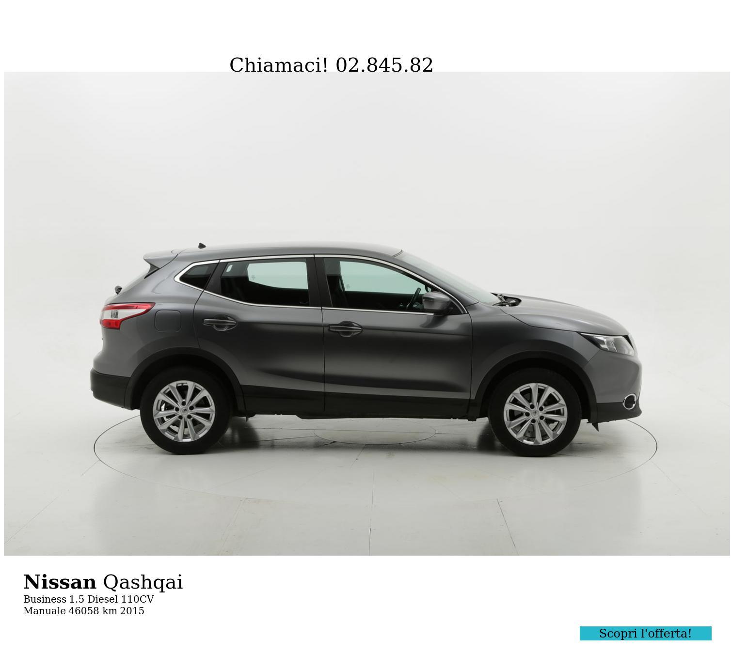 Nissan Qashqai usata del 2015 con 46.076 km | brumbrum