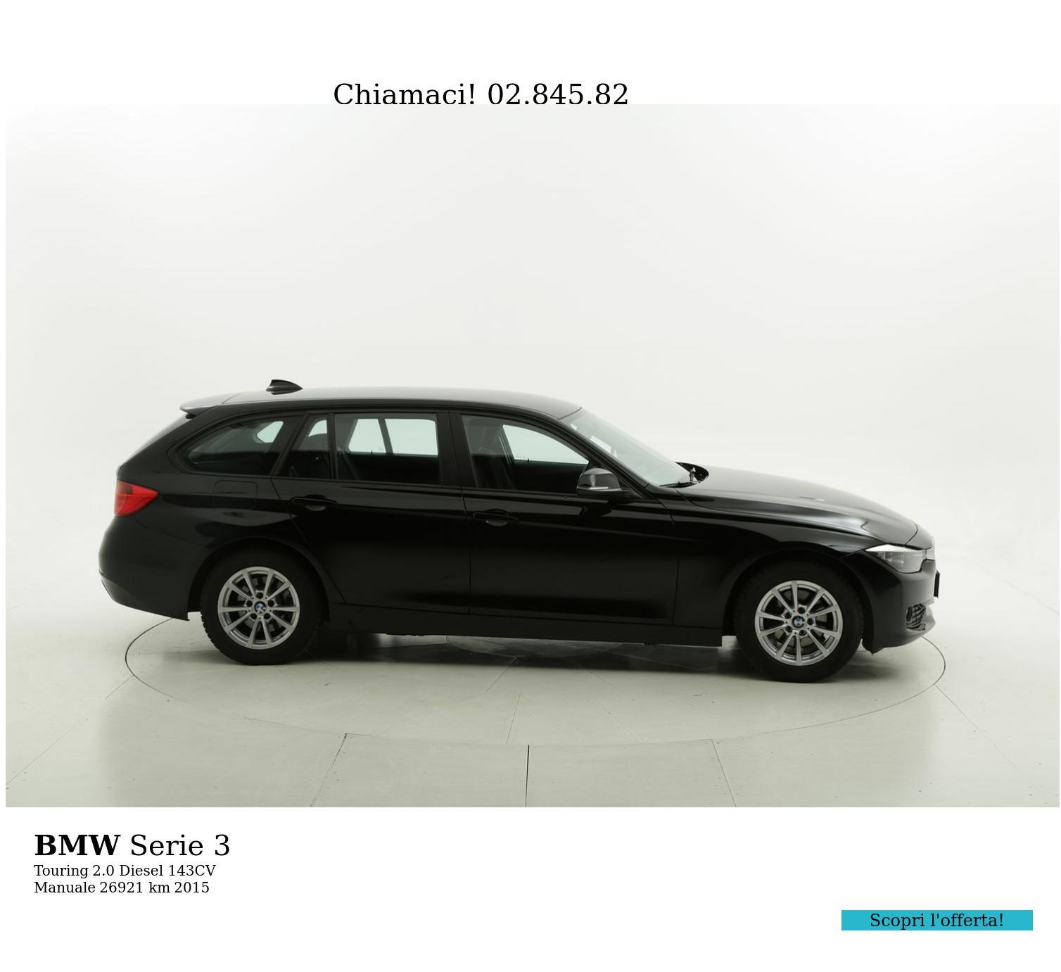 BMW Serie 3 usata del 2015 con 27.004 km   brumbrum