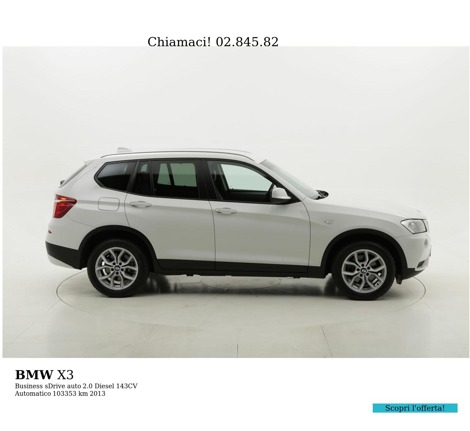 BMW X3 usata del 2013 con 103.443 km | brumbrum
