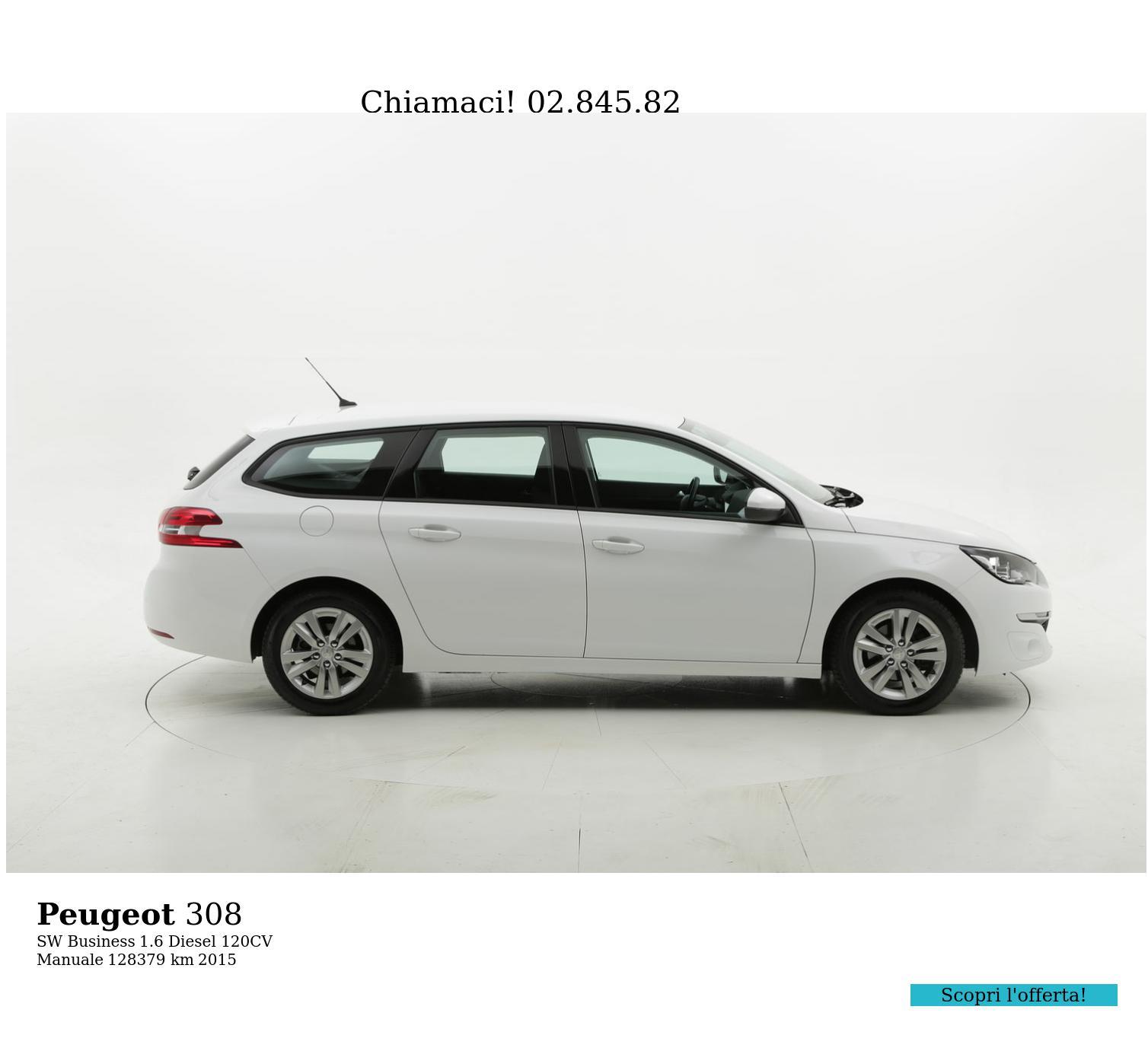 Peugeot 308 usata del 2015 con 128.525 km | brumbrum