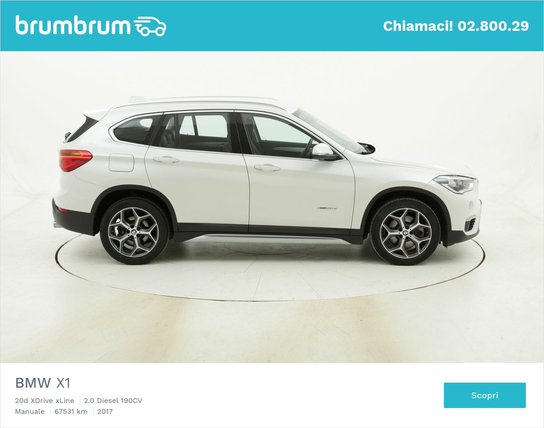 BMW X1 20d XDrive xLine usata del 2017 con 67.592 km | brumbrum