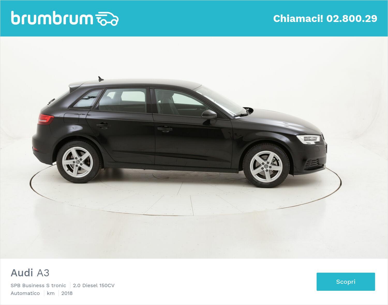 Audi A3 SPB Business S tronic usata del 2018 con 54.365 km | brumbrum