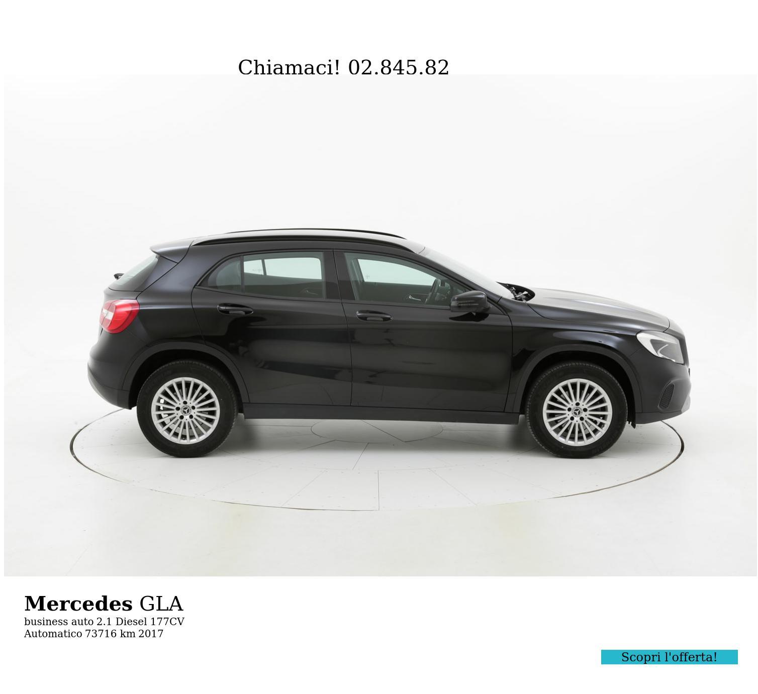 Mercedes GLA usata del 2017 con 73.889 km   brumbrum