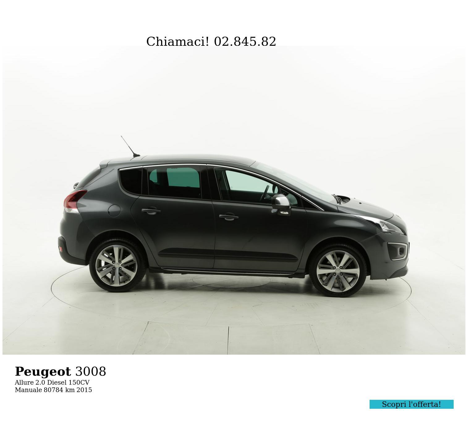 Peugeot 3008 usata del 2015 con 81.217 km | brumbrum