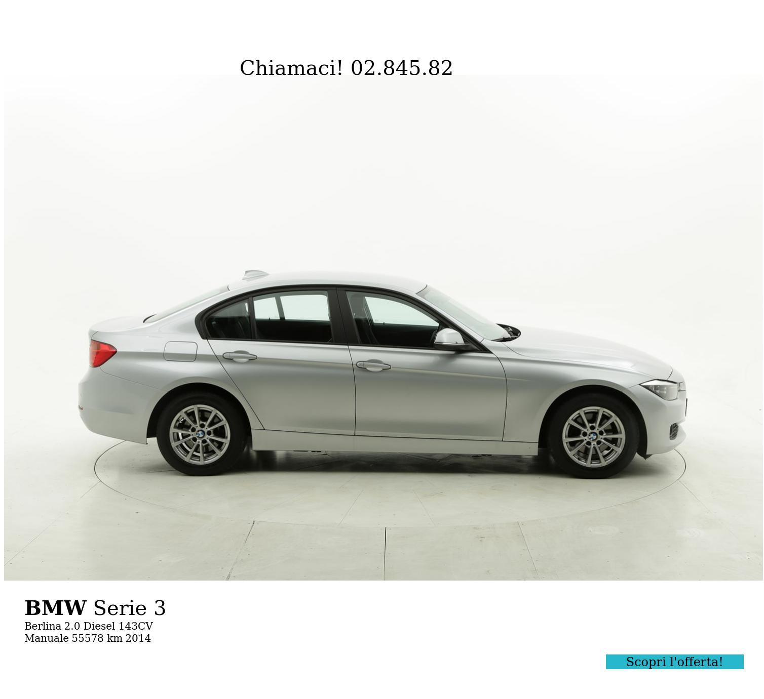 BMW Serie 3 usata del 2014 con 55.698 km | brumbrum