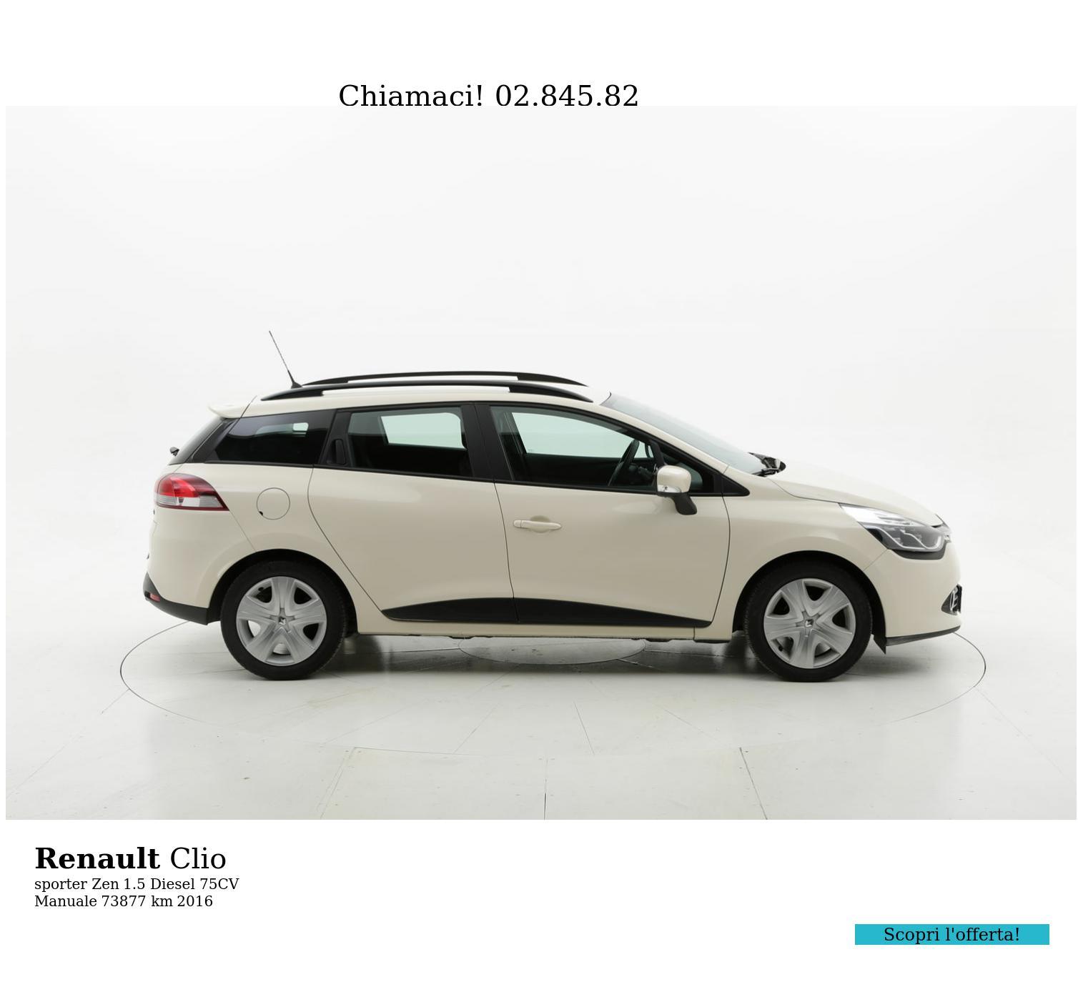 Renault Clio usata del 2016 con 74.107 km | brumbrum