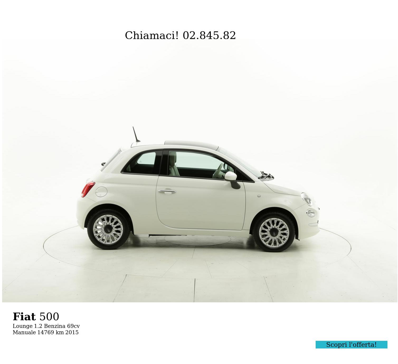 Fiat 500 usata del 2015 con 14.891 km | brumbrum