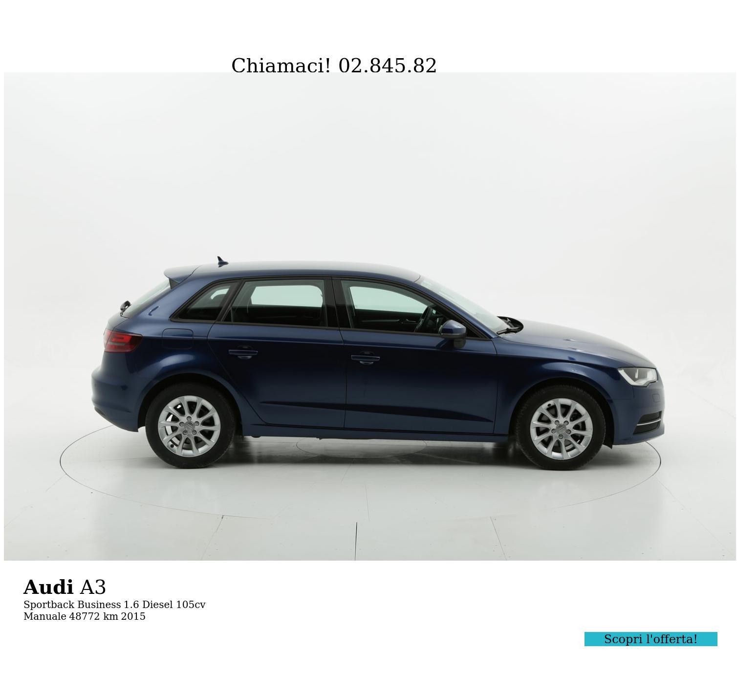 Audi A3 usata del 2015 con 49.096 km | brumbrum
