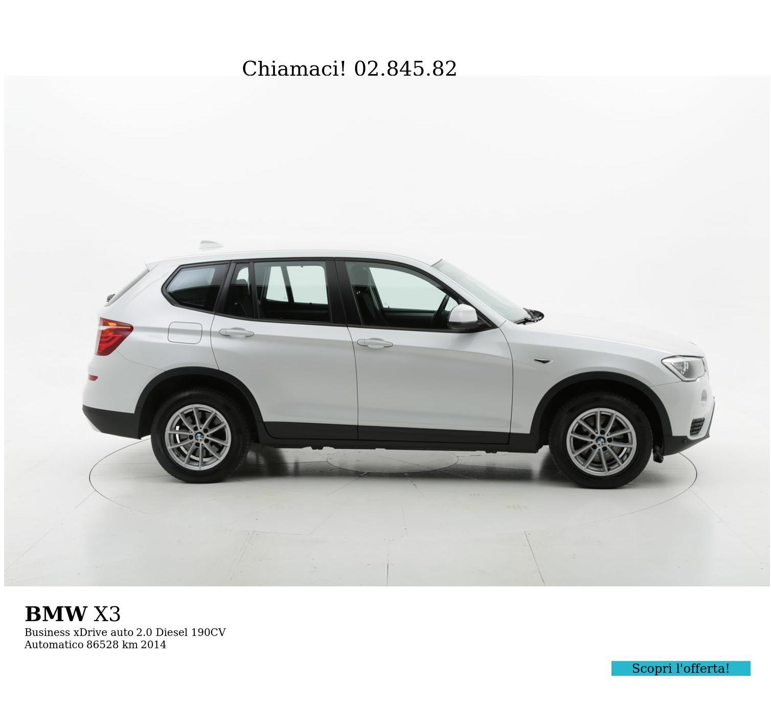 BMW X3 usata del 2014 con 86.586 km   brumbrum