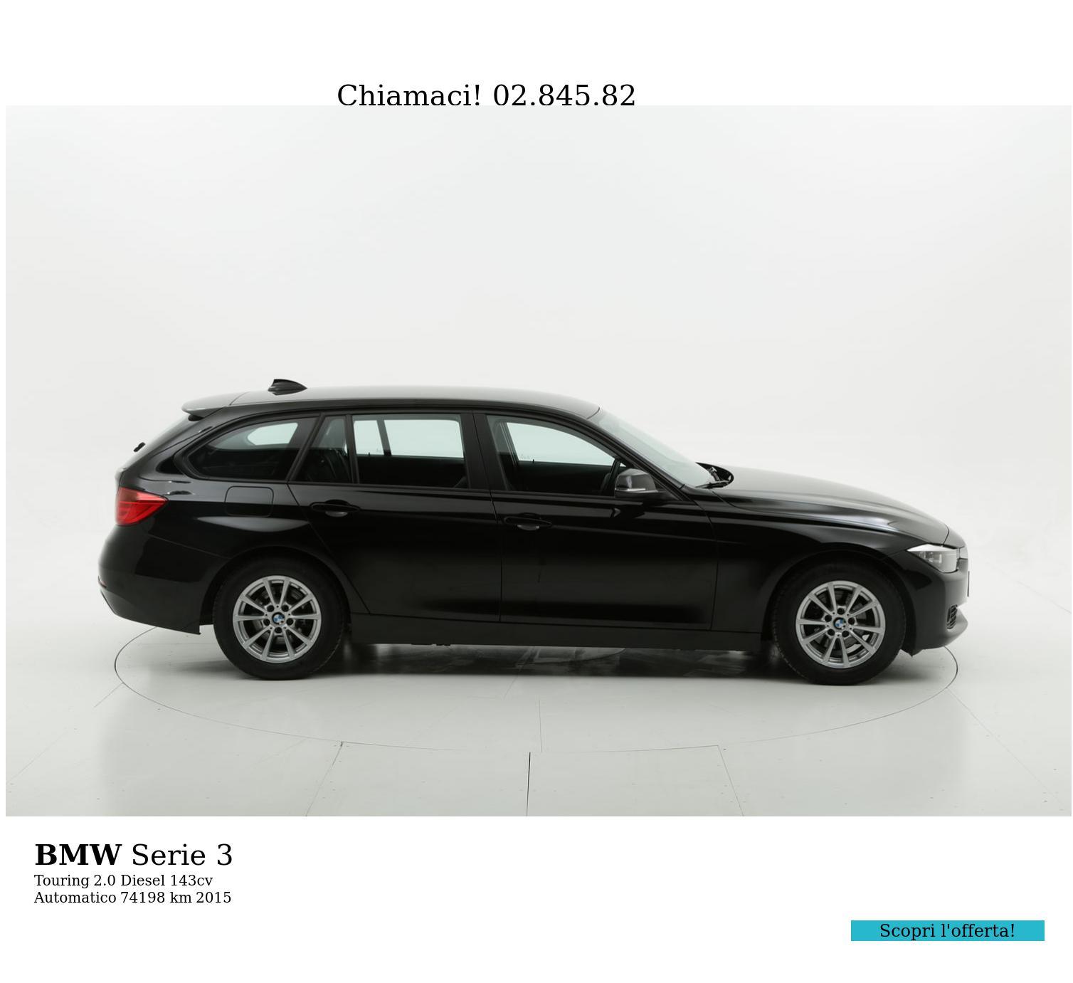 BMW Serie 3 usata del 2015 con 74.262 km   brumbrum