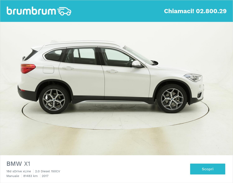 BMW X1 18d sDrive xLine usata del 2017 con 81.578 km   brumbrum