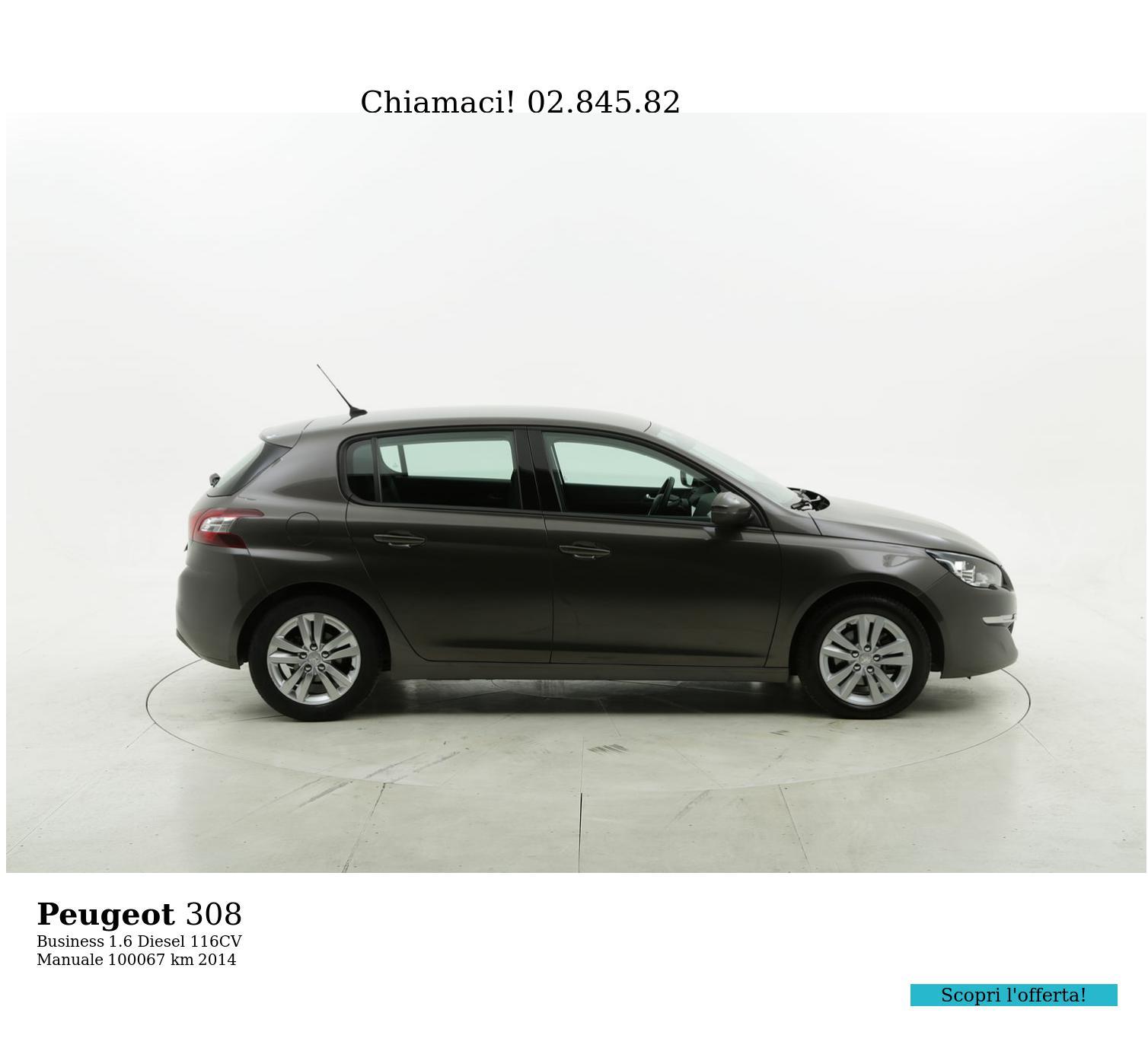 Peugeot 308 usata del 2014 con 100.299 km | brumbrum