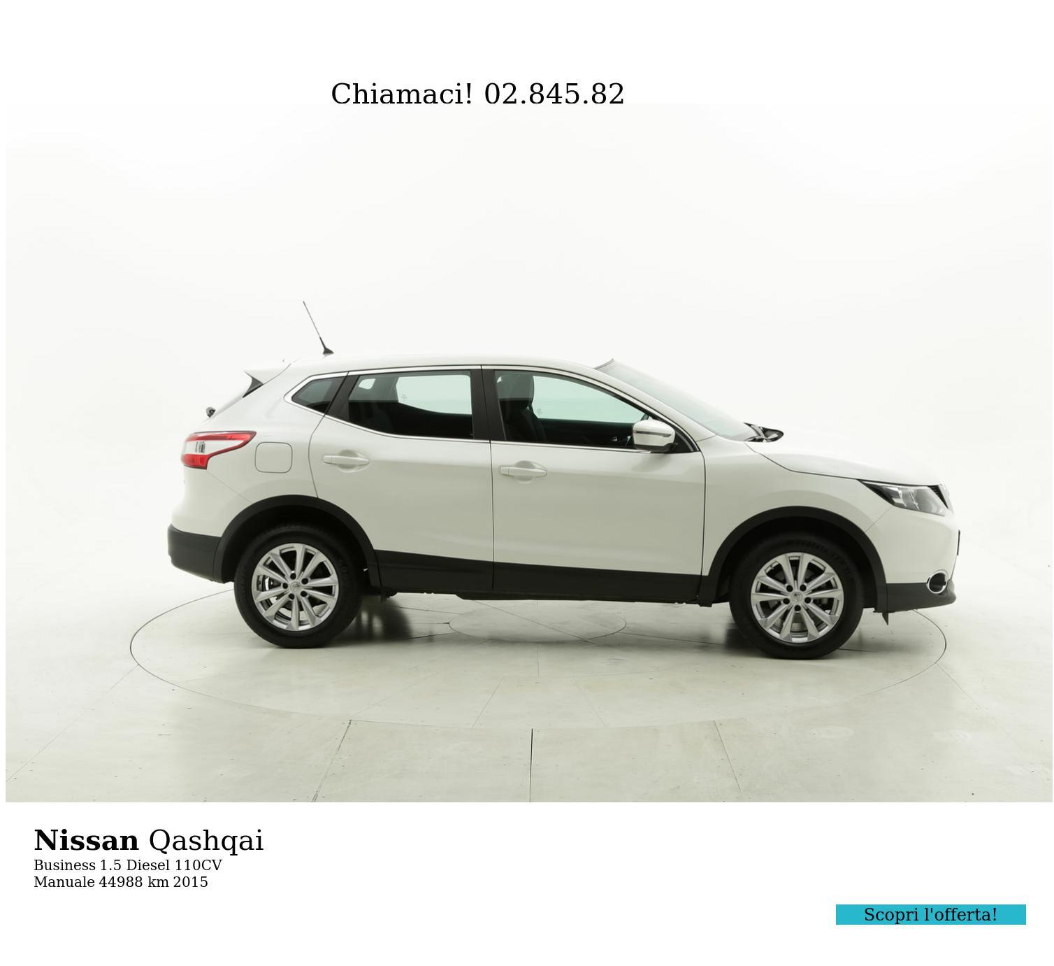 Nissan Qashqai usata del 2015 con 45.135 km | brumbrum
