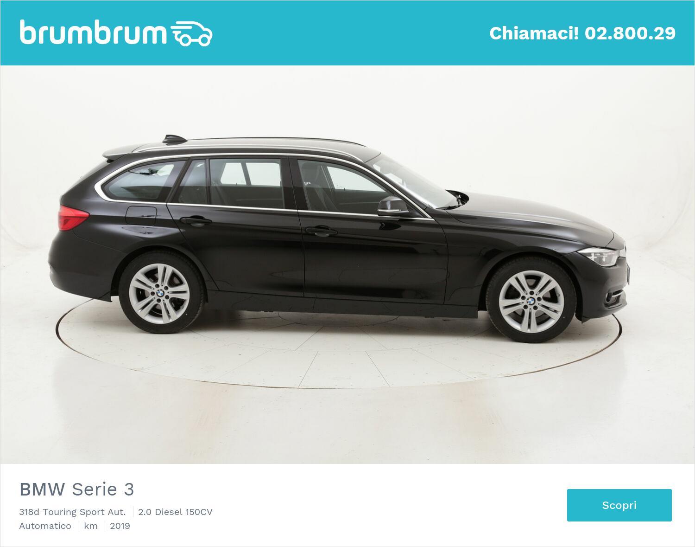 BMW Serie 3 318d Touring Sport Aut. usata del 2019 con 76.490 km   brumbrum