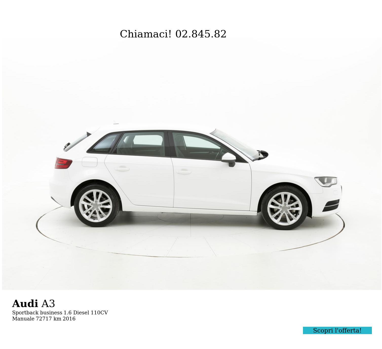 Audi A3 usata del 2016 con 72.808 km | brumbrum