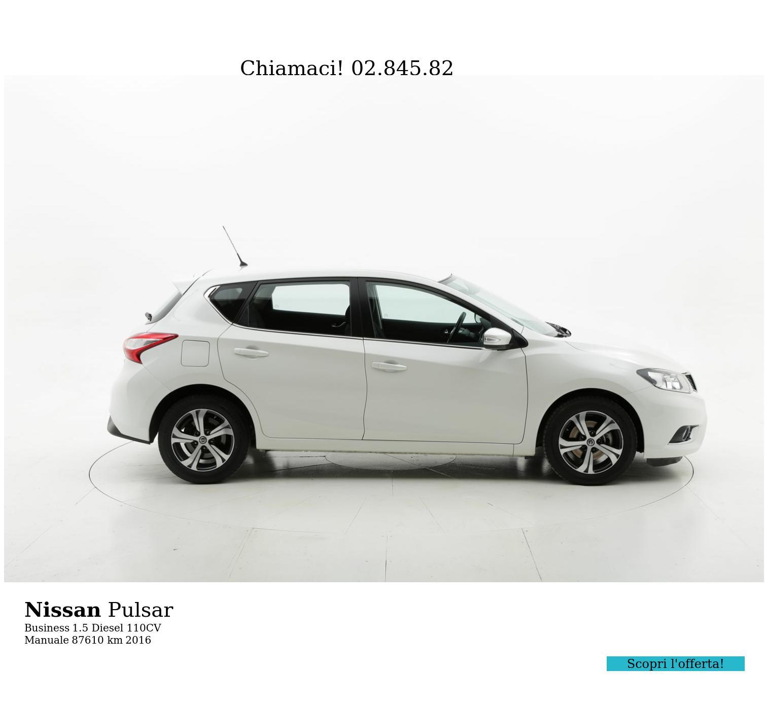 Nissan Pulsar usata del 2016 con 87.815 km | brumbrum