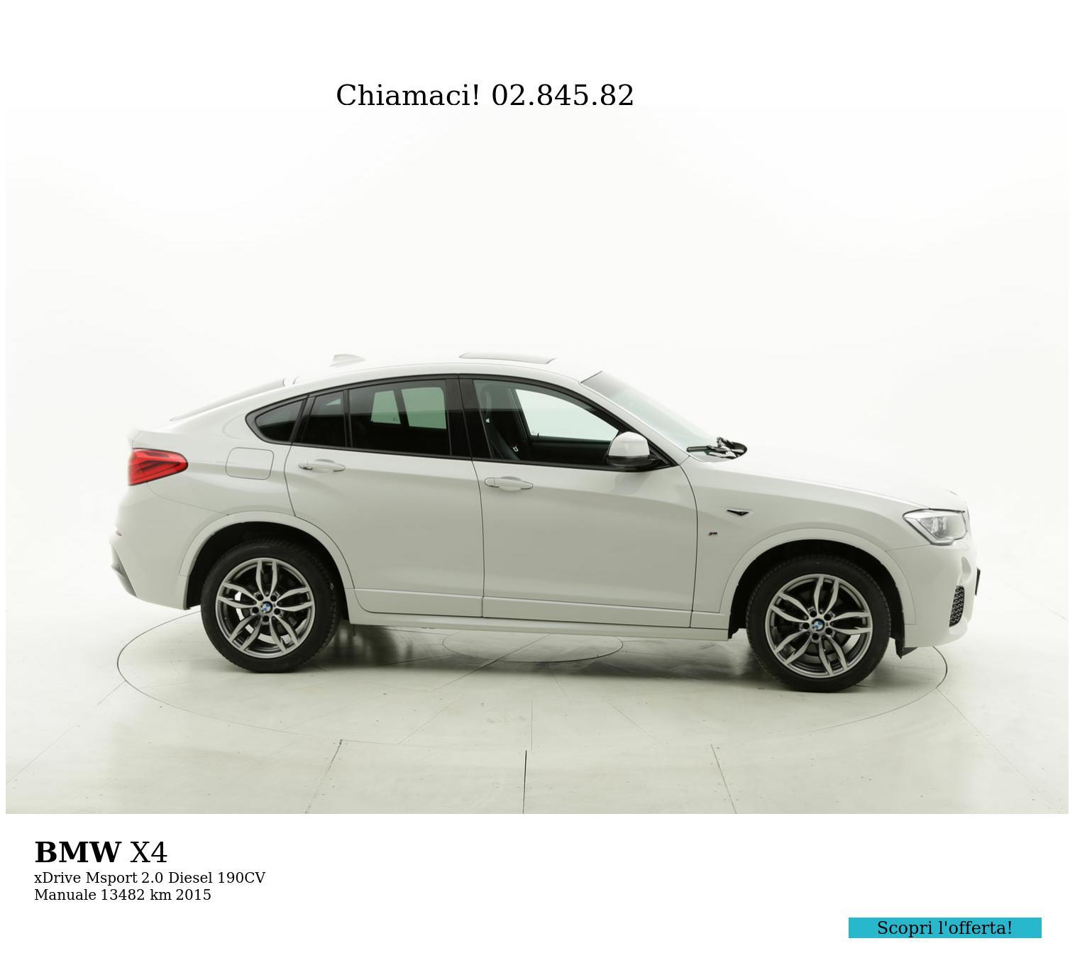 BMW X4 usata del 2015 con 13.568 km   brumbrum