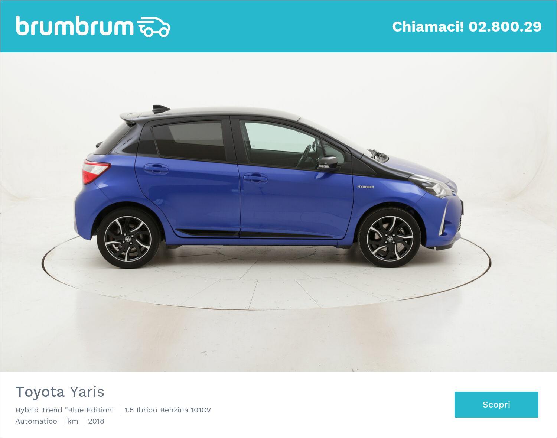 "Toyota Yaris Hybrid Trend ""Blue Edition"" usata del 2018 con 65.730 km | brumbrum"