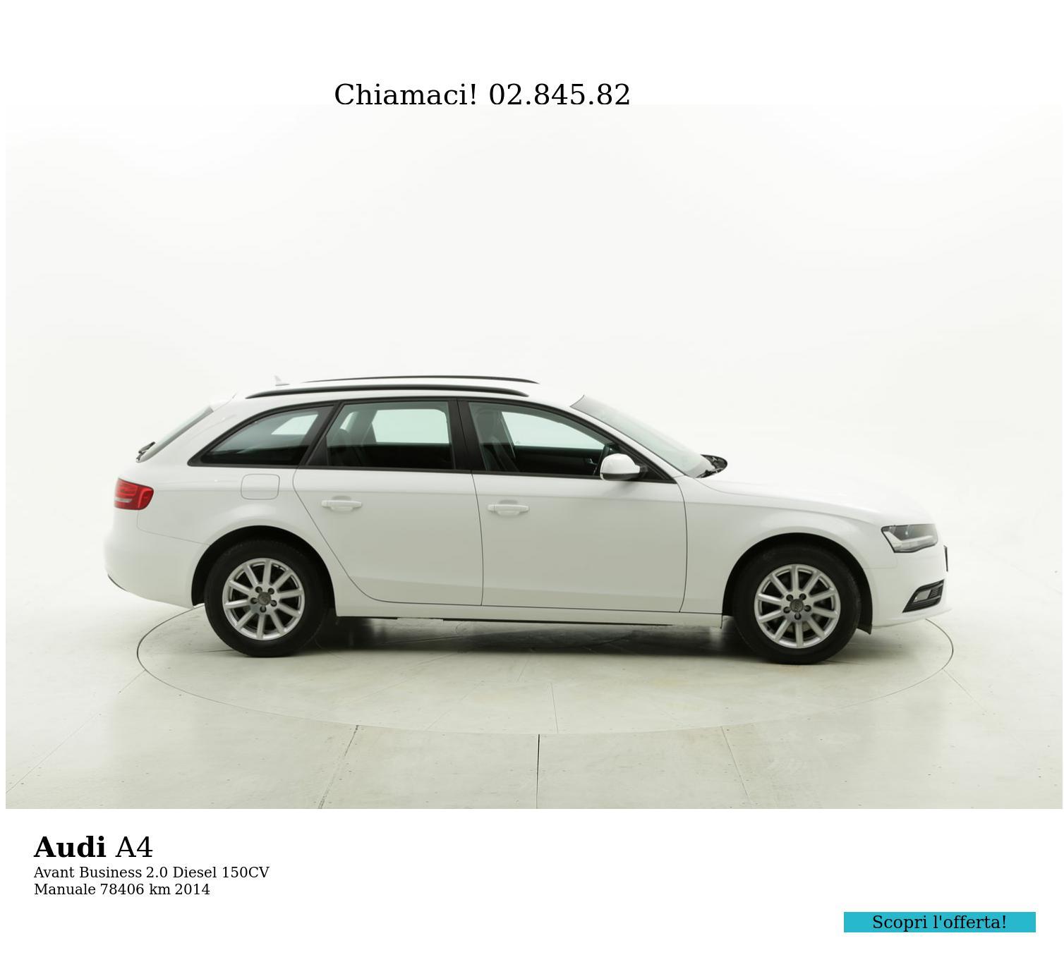 Audi A4 usata del 2014 con 78.460 km   brumbrum