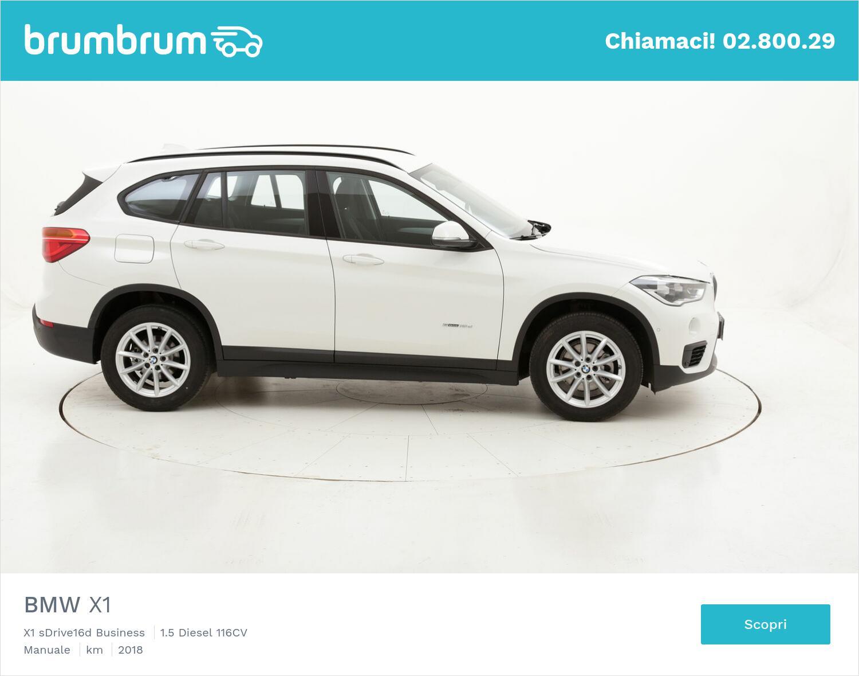 BMW X1 X1 sDrive16d Business usata del 2018 con 24.878 km   brumbrum